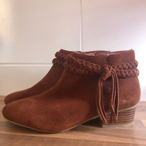 Faith brown suede ankle boots Size UK39/6 = AU 8